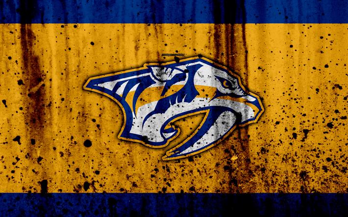 4k Nashville Predators Grunge NHL Hockey Art Western Conference
