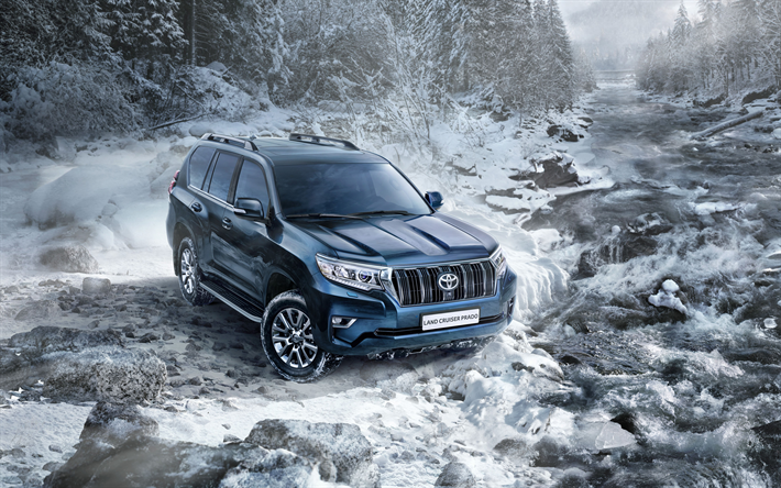 Download Wallpapers Land Cruiser Prado, 2018, Luxury SUV