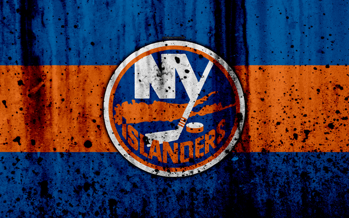 4k New York Islanders Grunge NHL Hockey Art Eastern Conference