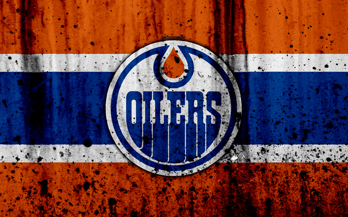 Download wallpapers 4k, Edmonton Oilers, grunge, NHL ...