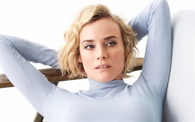 Diane Kruger, German actress, 4k, portrait, fashion model, photoshoot, blonde