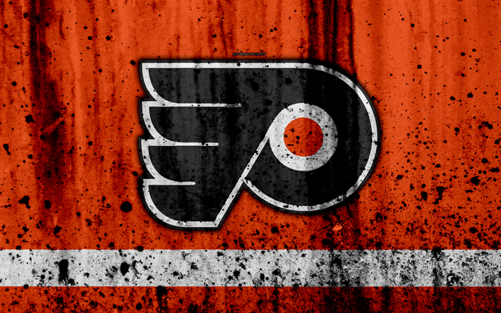 Download wallpapers 4k philadelphia flyers grunge nhl - Philadelphia flyers wallpaper ...