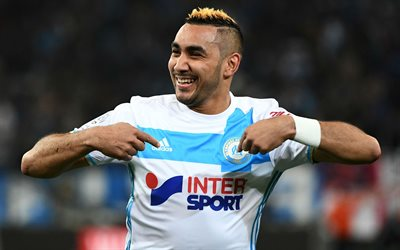 Dimitri Payet, Olympique de Marseille, France, Ligue 1, football, portrait, 4k, French footballer
