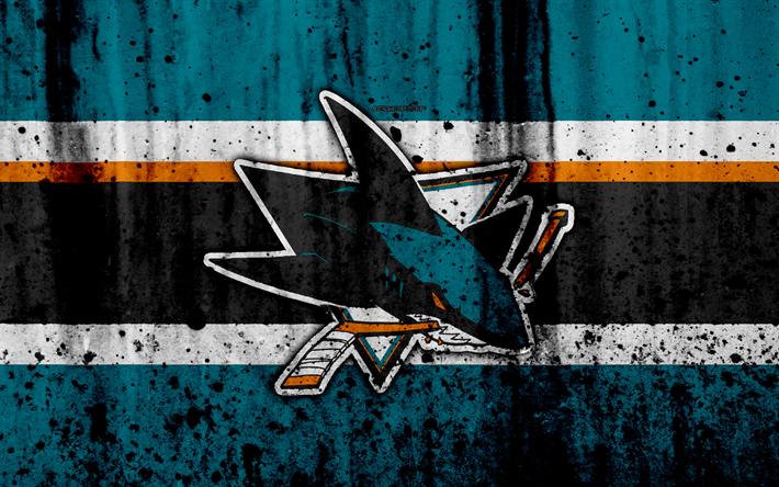 4k San Jose Sharks Grunge NHL Hockey Art Western Conference