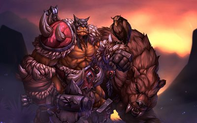 Rexxar, monster, WoW characters, World of Warcraft, artwork, WoW