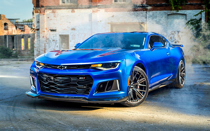T 233 L 233 Charger Fonds D 233 Cran Chevrolet Camaro Zl1 Bleu