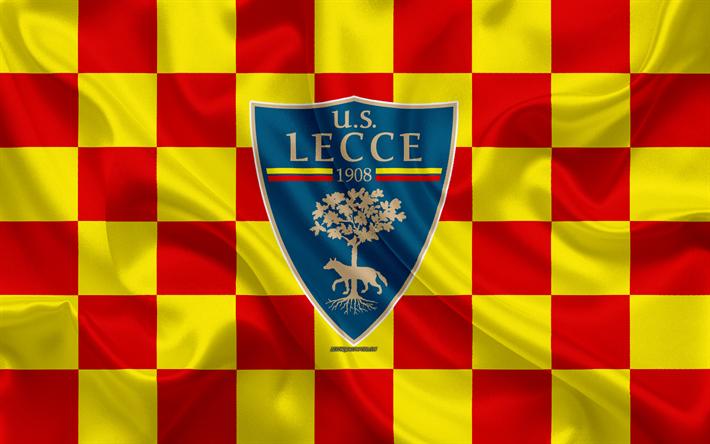 Scarica Sfondi Us Lecce 4k Logo Creativo Arte Giallo Rosso