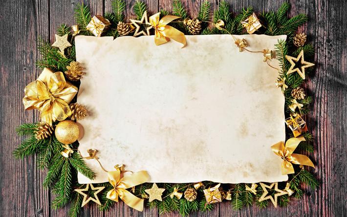 Hintergrundbilder Frohe Weihnachten.Herunterladen Hintergrundbild Frohe Weihnachten Goldene