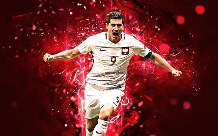 LEWANDOWSKI ROBERT Poland National soccer jersey RED GREAT STRIKER new//tag,
