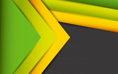 abstract art, green yellow yellow black abstraction, material design, creative art, lines