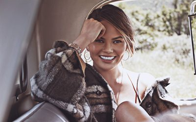 Chrissy Teigen, 2018, photoshoot, american models, beauty, smile, fashion models