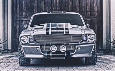 4k, Ford Shelby Mustang GT500 Eleanor, front view, 1967 cars, retro cars, muscle cars, 1967 Ford Mustang, american cars, Ford