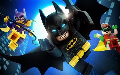 The Lego Batman, superheroes, 3d-animation, 2017 movie