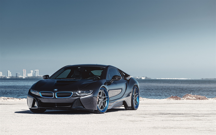 Download Wallpapers Bmw I8 2018 Front View Sports Electric Car