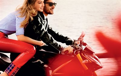 Zayn Malik, Gigi Hadid, motorcycles, superstars, Hollywood
