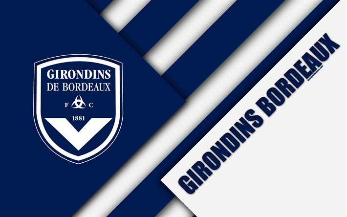 download imagens o fc girondins de bordeaux 4k design de material bordeaux logotipo clube de. Black Bedroom Furniture Sets. Home Design Ideas