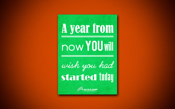 A Year From Now You Will Wish Had Started Today 4k Business Quotes