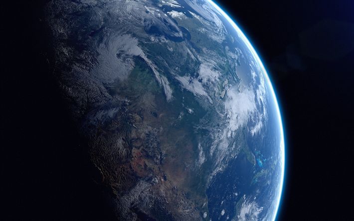 Earth from space, planet, galaxy, Earth satellite, sci-fi, universe, NASA