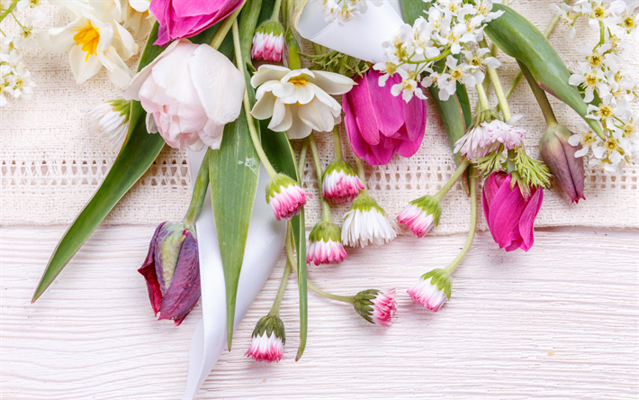 Download wallpapers spring flowers tulips pink flowers floral spring flowers tulips pink flowers floral background mightylinksfo Image collections