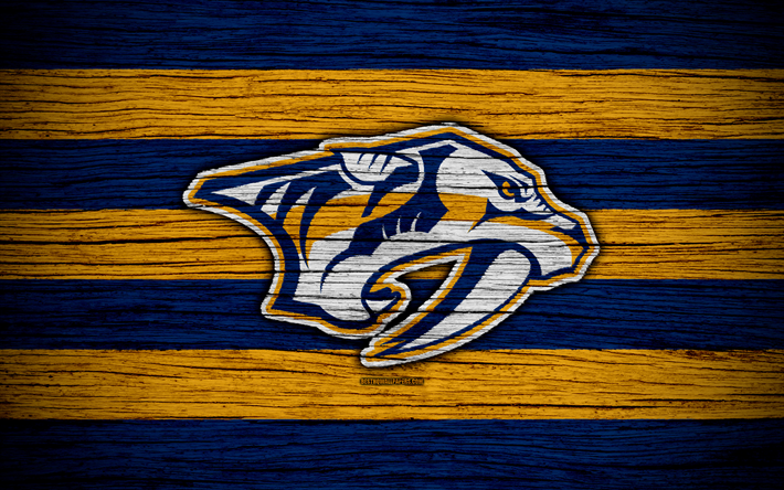 Nashville Predators 4k NHL Hockey Club Western Conference USA Logo