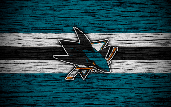 Download Wallpapers San Jose Sharks, 4k, NHL, Hockey Club