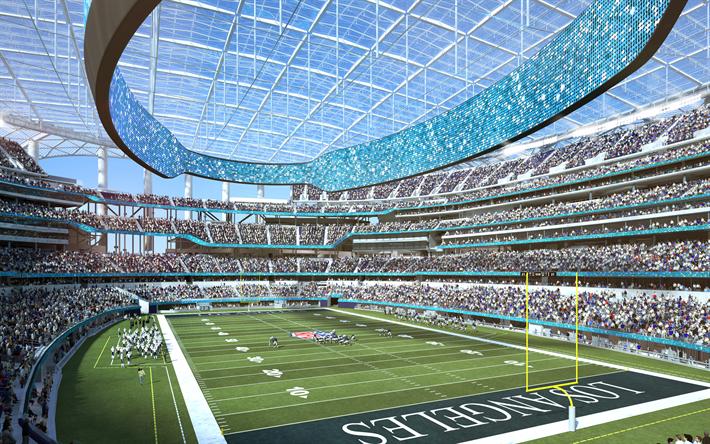Rams Stadium 4k NFL LA Los Angeles