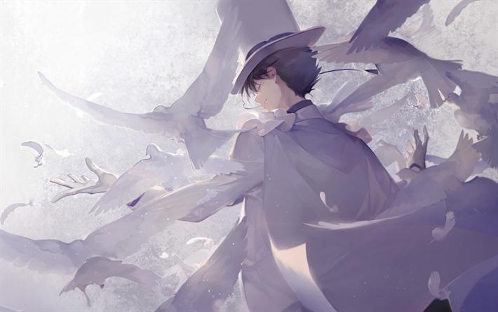 Download wallpapers Kaitou Kid, art, anime characters, manga