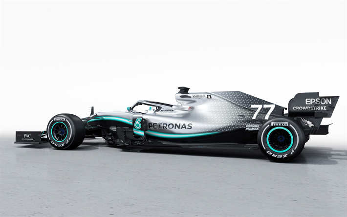 Download Wallpapers Mercedes Amg F1 W10 Eq Power 2019 Side View