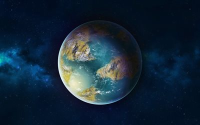 4k, Earth from space, stars, galaxy, planet, sci-fi, universe, NASA
