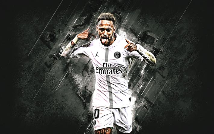 Télécharger fonds d'écran Neymar, le PSG, l'attaquant, le Paris Saint-Germain, 10e numéro, la ...