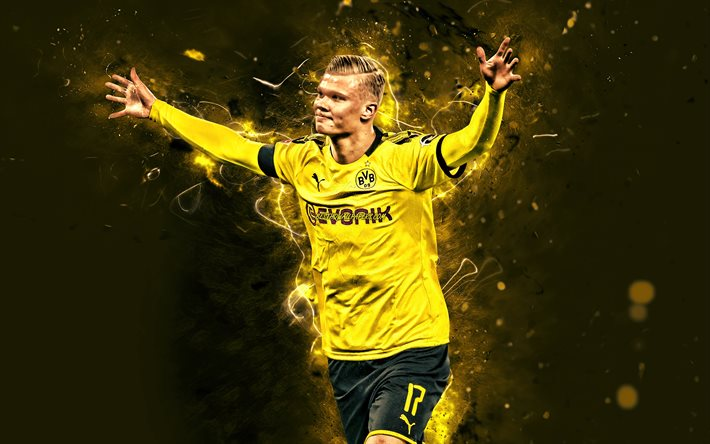 Download Wallpapers 4k Erling Haaland 2020 Borussia Dortmund Fc Norwegian Footballers Bvb Soccer Erling Braut Haaland Bundesliga Football Erling Haaland Bvb Neon Lights Erling Haaland 4k For Desktop Free Pictures For Desktop