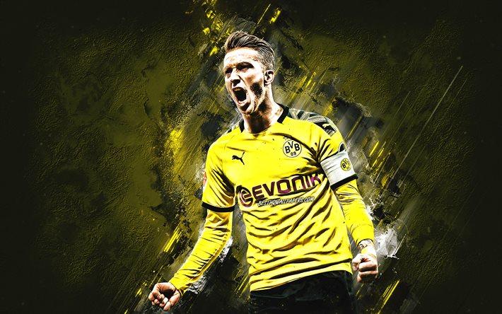 Download Wallpapers Marco Reus Borussia Dortmund Portrait German Soccer Player Bvb Dortmund Yellow Stone Background Bundesliga Germany For Desktop Free Pictures For Desktop Free