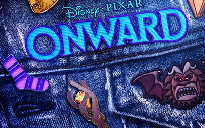 Onward, 4k, 3D-animation, fan art, 2020 movie, poster, Onward Movie, fantasy films, 2020 Onward