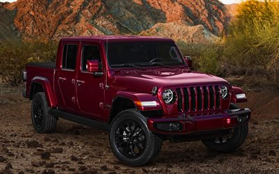 Jeep Gladiator, 4k, offroad, 2020 cars, desert, Jeep Gladiator JT, SUVs, 2020 Jeep Gladiator, american cars, Jeep