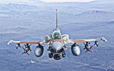 General Dynamics F-16 Fighting Falcon, close-up, jet fighter, General Dynamics, US Army, Flying F-16, fighter, F-16, combat aircraft