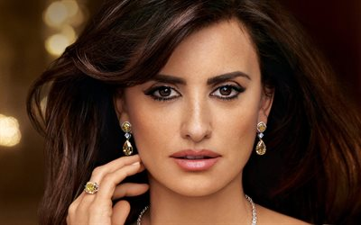 Penelope Cruz, spanish actress, portrait, photoshoot, beautiful eyes, makeup, hollywood star
