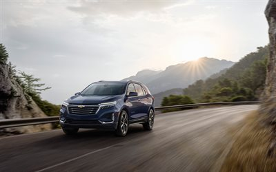 4k, Chevrolet Equinox, motion blur, 2020 cars, SUVs, 2020 Chevrolet Equinox, american cars, Chevrolet