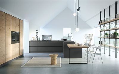 modern design for the kitchen, modern, minimalism, modern interior, kitchen