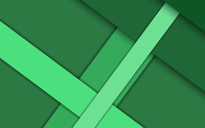 Download wallpapers green abstraction, geometric ...