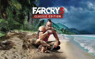 Far Cry 3 Classic Edition, 4k, 2018 games, poster, Far Cry 3