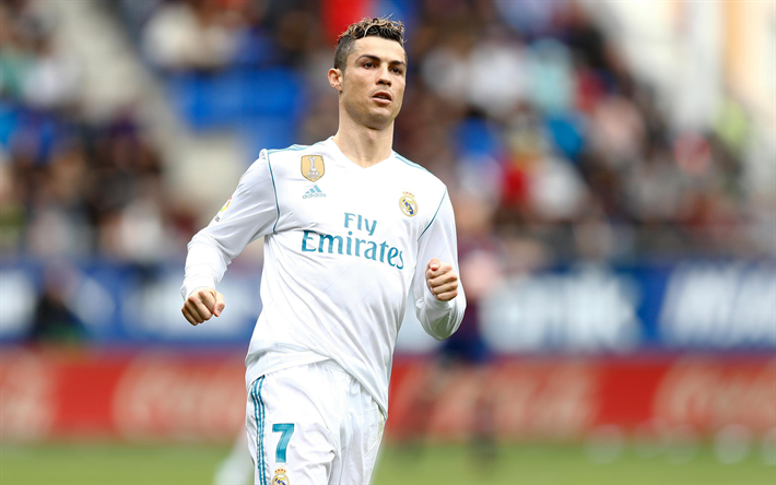 Herunterladen Hintergrundbild Ronaldo Match Fussball Stars
