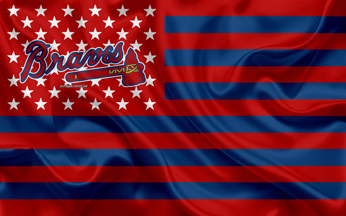 Download Wallpapers Atlanta Braves American Baseball Club