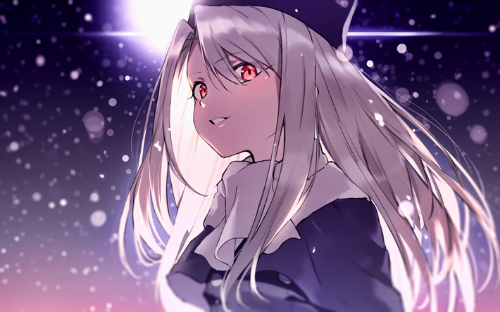 Download Wallpapers Illyasviel Von Einzbern Girl With Red Eyes Fate Stay Night Protagonist Type Moon Manga Fate Series For Desktop Free Pictures For Desktop Free