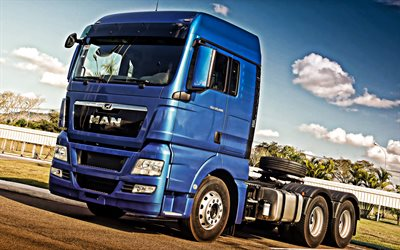 MAN TGS, 2019, blue truck, new blue TGS, german new trucks, MAN