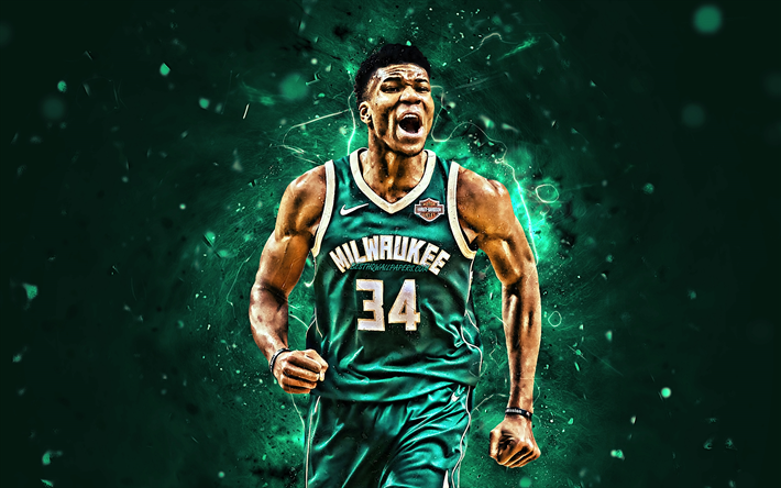 Download Wallpapers Giannis Antetokounmpo Joy Nba