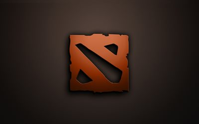 Dota 2 logo, minimal, gray background, Dota2, creative, Dota 2