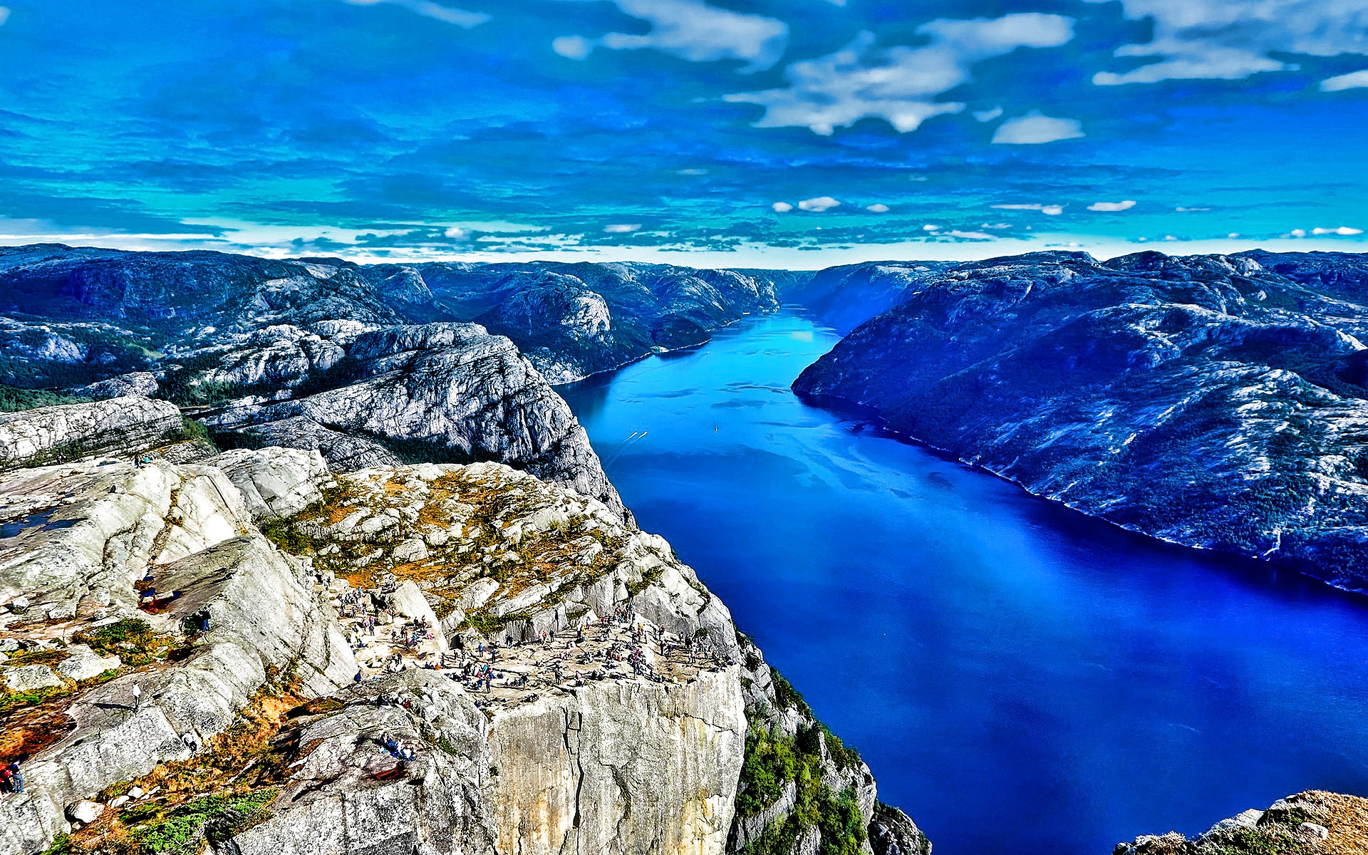 Norway, fjord, beautiful nature, mountains, HDR, Europe