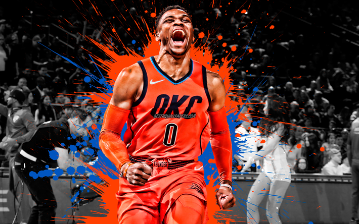 Download Wallpapers Russell Westbrook American Basketball