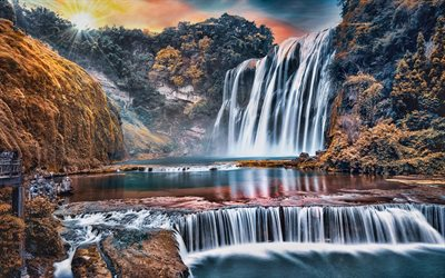 Huangguoshu Waterfall, autumn, beautiful nature, Zhenning, Anshun, Guizhou, China, Asia