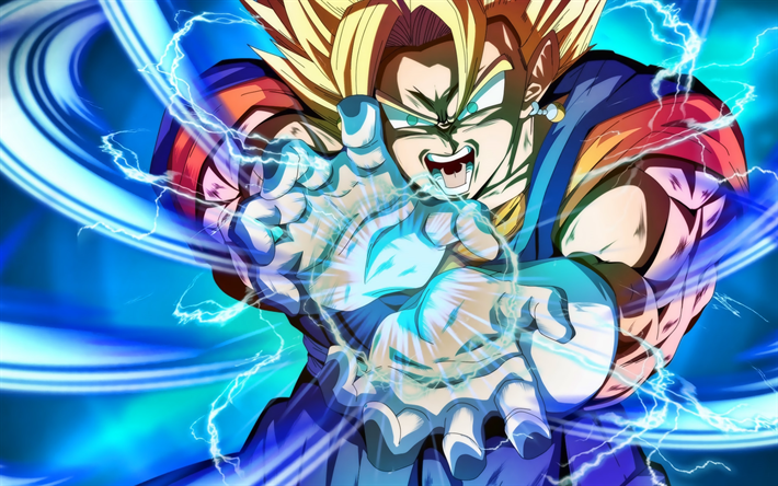 Vegetto, Dragon Ball, artwork, Dragon Ball FighterZ, Dragon Ball characters